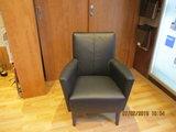 klein fauteuiltje  leder  zwart leder _9