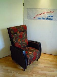 relax fauteuil met gecombineerde meubelstof handbediening