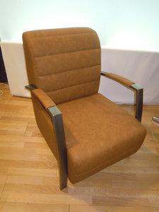 leuk fauteuiltje kunstleder bruin