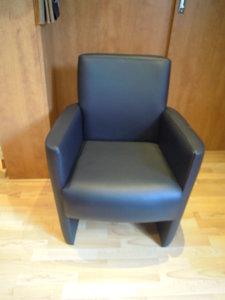eekamerstoel  met mooi leder in div kleuren leverbaar ook in meubelstof