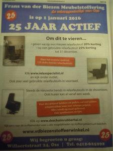 De Relaxspecialist is 25 actief in maatwerk en verkoop en verhuur