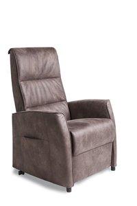 relaxfauteuil met meubelstof + sta op  leverbaar in 3 maten